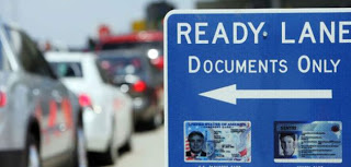 Border Ready Lane driving walking including Otay Mesa Ready-lane