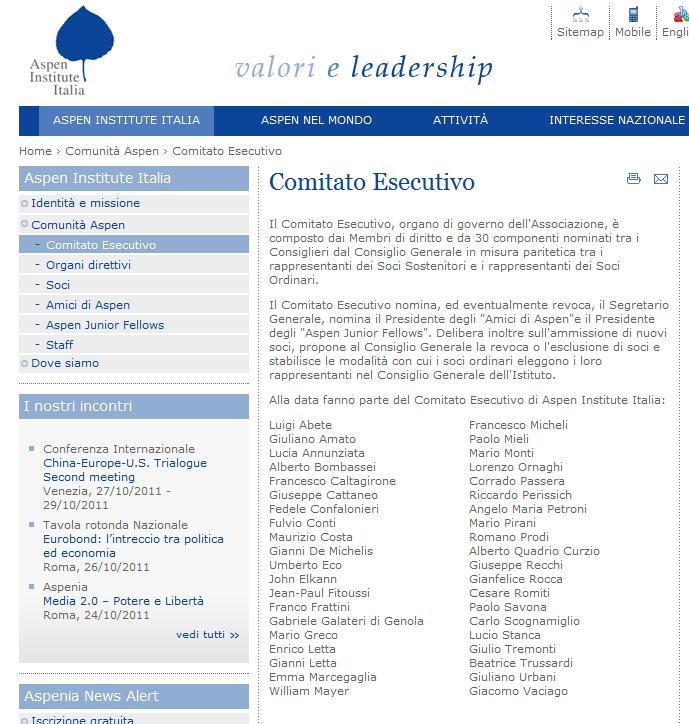 """Jesuit International"": Van Rompuy, Monti, Draghi y Rajoy Aspen"