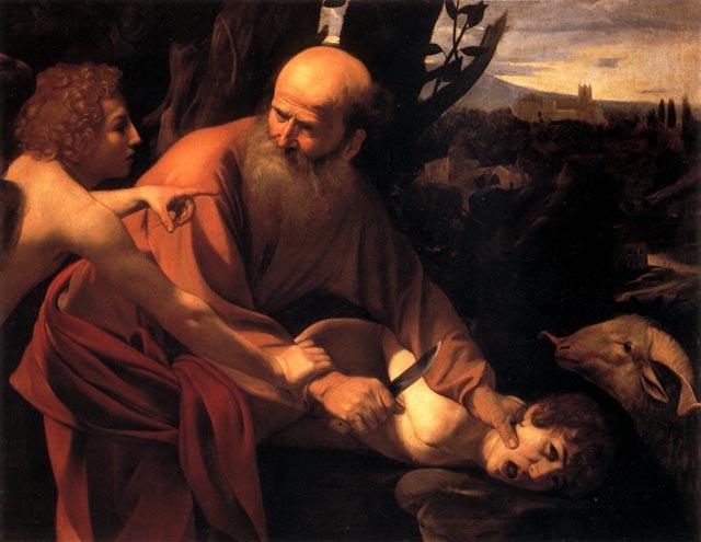 LA HISTORIA HUMANA JAMAS CONTADA Y QUE JAMAS LE CONTARAN... CAPITULO III The_Sacrifice_of_Isaac_by_Caravaggio-lr