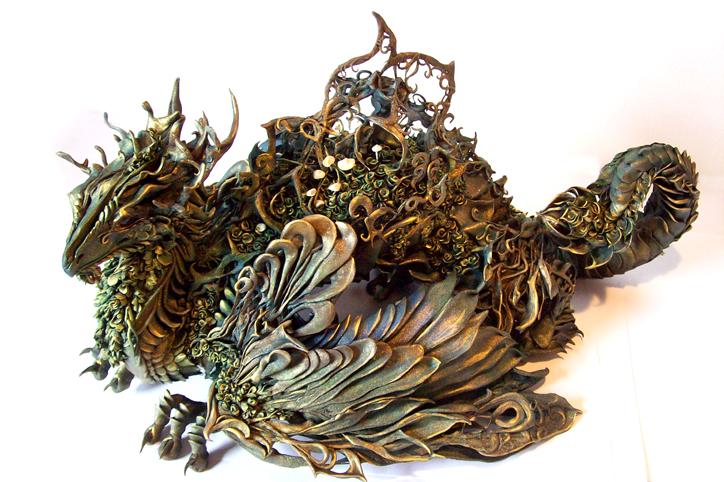 Ellen Jewett-umetnica nadrealnih skulptura! - Page 2 Moss_dragon_by_creaturesfromel