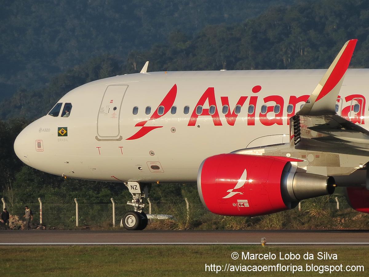 Nova pintura da Avianca Brasil em FLN IMG_4619