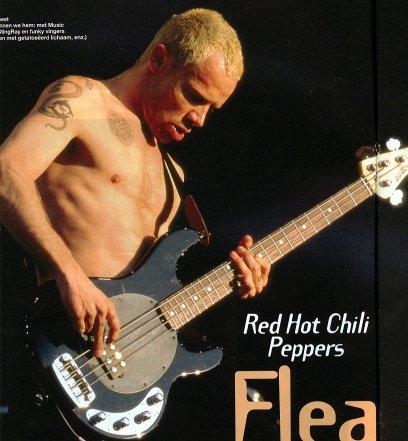 Seu baixista e o baixo dele Flea