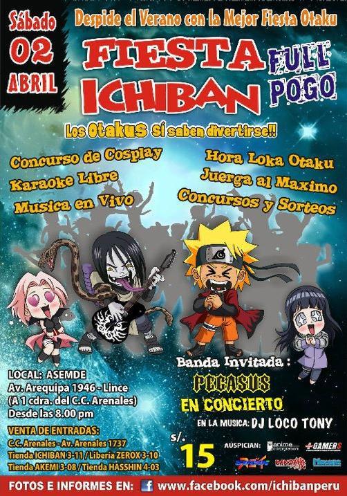 Fiesta Ichiban Full Pogo. Sábado 2 De Abril De 2011 Otaku