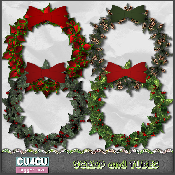Set of Christmas Wreaths (CU4CU) .Set%2Bof%2BChristmas%2BWreaths_Preview_Scrap%2Band%2BTubes