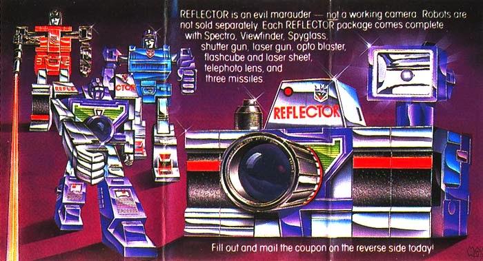 Points sur les boîtes de jouet de Les Transformers (G1) ― Robot Point Reflectorisanevilmarauder