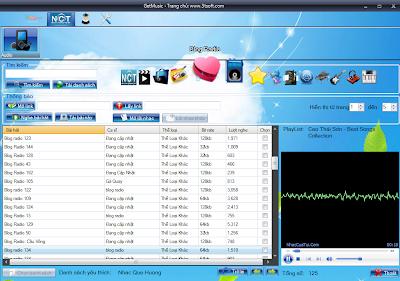 GetMusic phần mềm nghe nhạc và xem video trực tuyến từ Zing, NhacCuaTui, YouTube...! GmBlogRadio