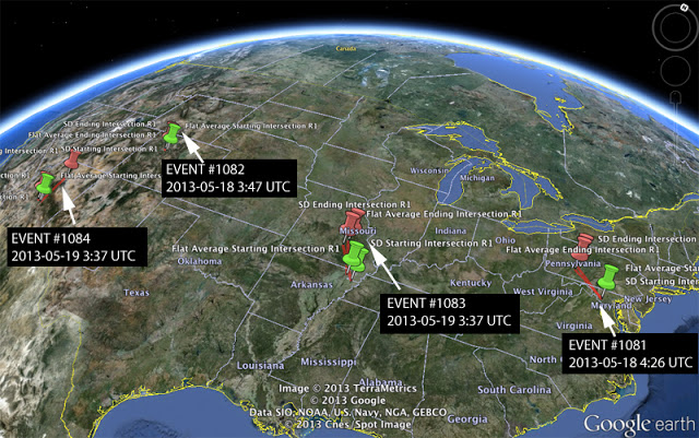 Four fireballs at four in the last 24 hours  Ams-four-fireballs-may192013