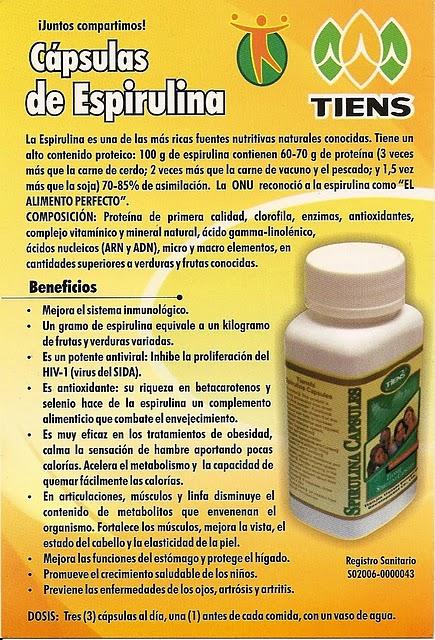 para - ALGA ESPIRULINA Espirulina