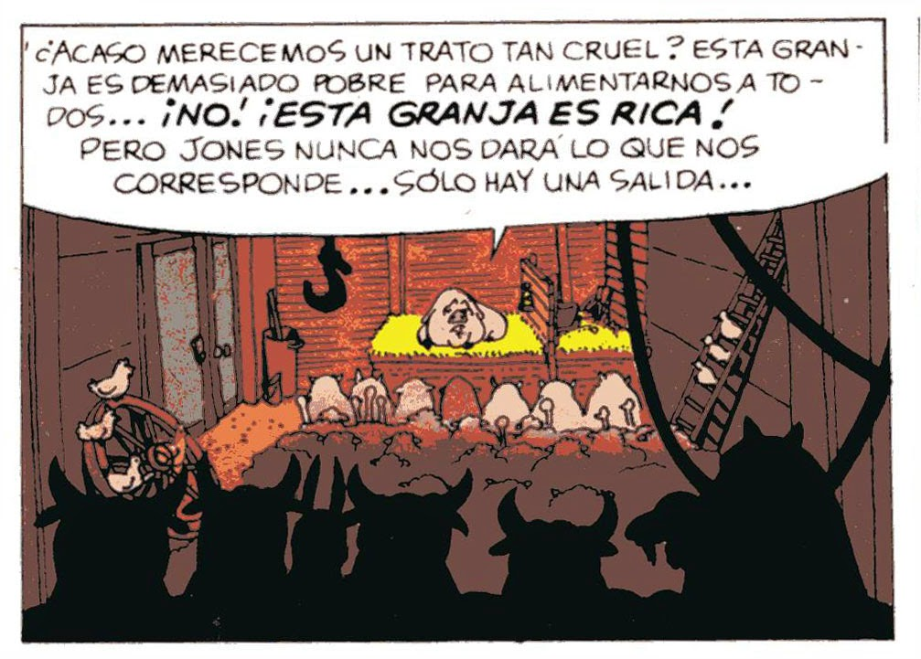 dictadura venezola de izquierda capitalista. Rebelion-en-la-granja