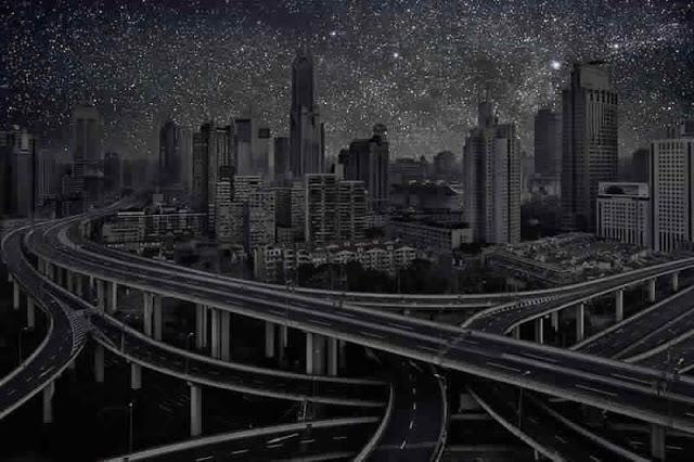 كيف ستبدوا المدن الكبرى لو خيم عليها الظــلآم الدامـس ..؟! Shanghai