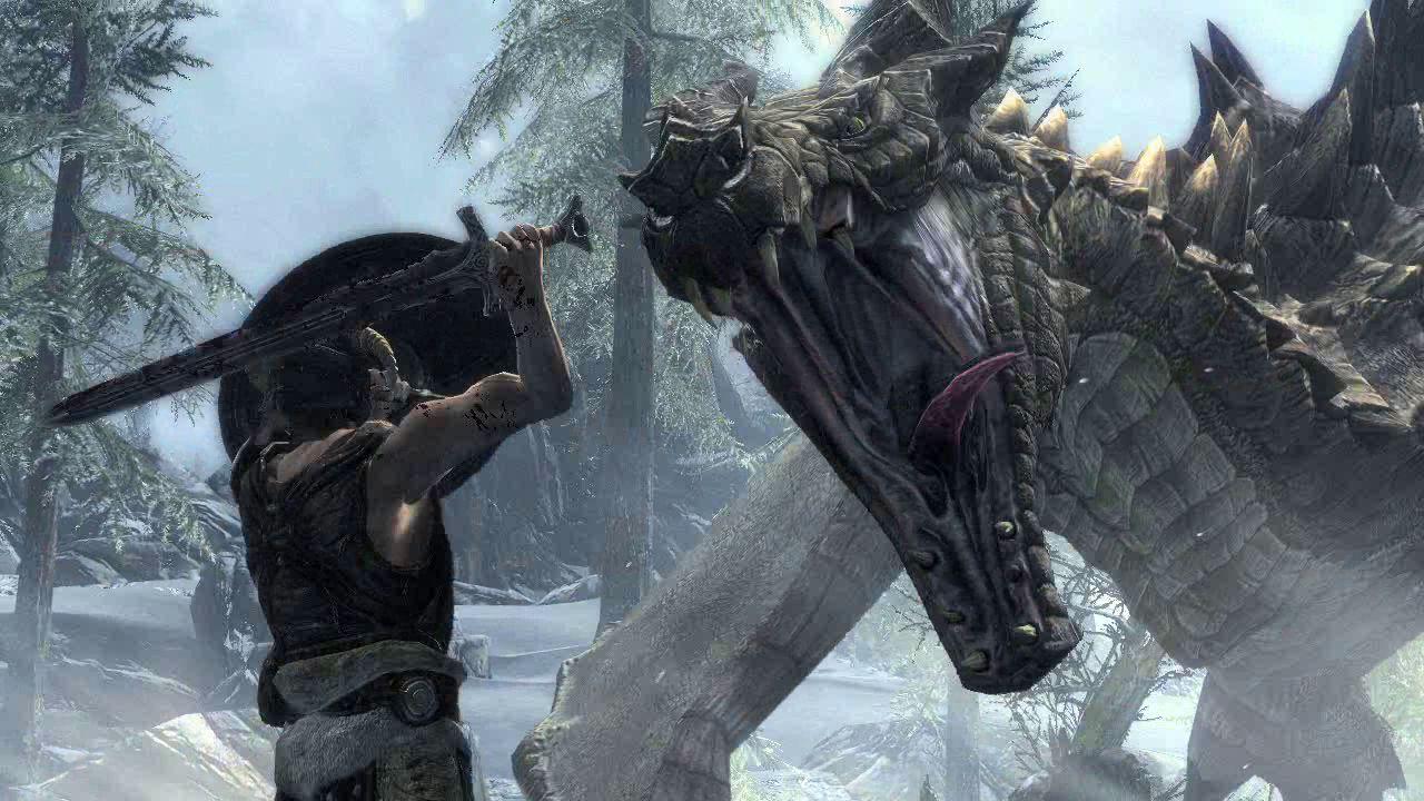 The Elders Scrolls V Skyrim-dragon-attack