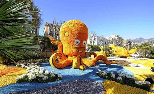 مهرجان الليمون والبرتقال في فرنسا 7