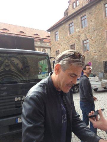 Photos and videos: George Clooney filming in Merseburg Georgeberlin