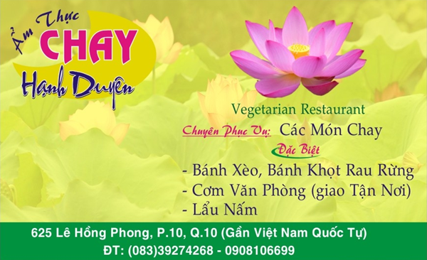 Nhà hàng Ẩm thực chay Hạnh Duyên -1000.com Giảm giá 30% nhân dịp Khai trương !!! HCMC Amthucchay2