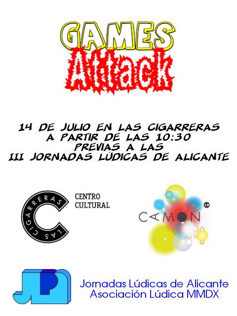 Sabado 14 de Julio, Games-Attack en Las Cigarreras Gamesattack