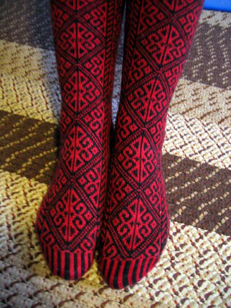 Provocare tricotat nr. 1 - Şosete, botoşei, jambiere. Knit_socks