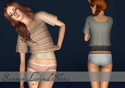 Summer Layered Shirts by Monstrcookie CCCCCC