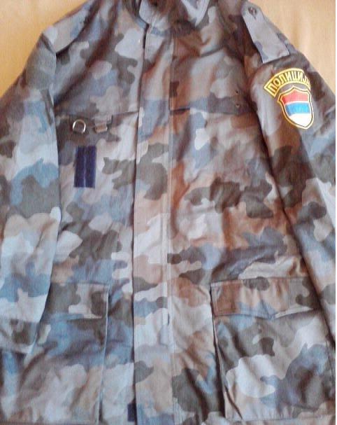 Yugoslavian Police blue puzzle pattern Plava4