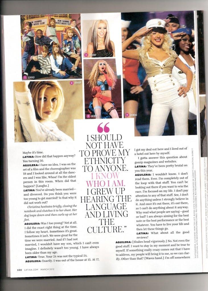 [Fotos+Video] Christina Aguilera en la portada de la revista Latina 2012 - Página 2 2