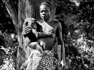 Evolution is a Lie - Intelligent Design is the Truth! Ota_Benga_at_Bronx_Zoo