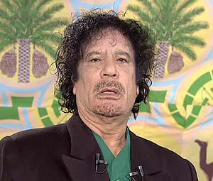 Le retrait des soldats en Afghanistan Moammar-Gaddafi