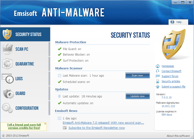 Emsisoft Anti-Malware 8.1.0.4 للحماية الشاملة ضد كافة الفايروسات وغيرها Securitystatus%5B1%5D