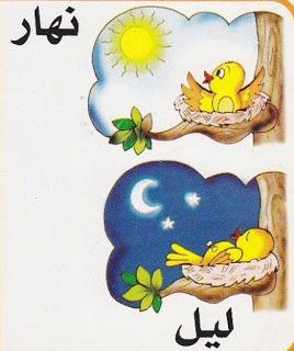 لتعليم الاطفال الصفات المضادة بالرسومات الشيقة باللغة العربية حضانة KG1 & KG2 3