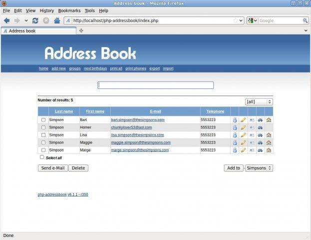 GESTION - PFE : Application de gestion des contacts et groupe avec PHP 5 275775