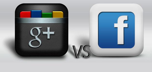 قوقل+ : أكثر من 100 مليون مستخدم ونمو بسرعة فائقة ! Google-plus-vs-facebook-fp