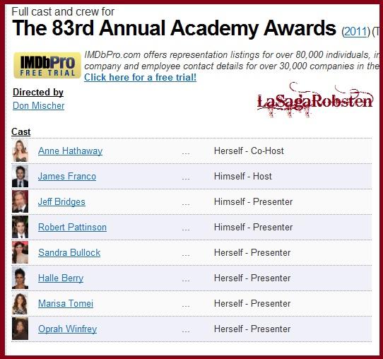 Academy Awards 2011 Imbd