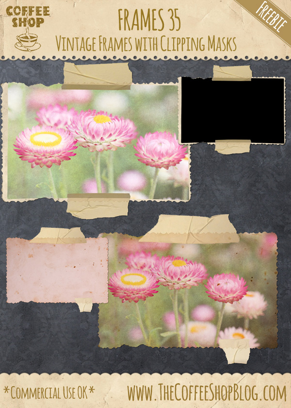 CoffeeShop Vintage Digital Frames 35 with Tape! CoffeeShop%2BVintage%2BFrames%2B35%2Bad