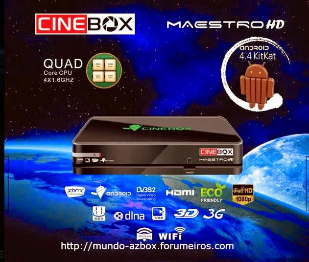 CONHEÇA MAIS UM LANÇAMENTO DA MARCA CINEBOX . VEM AI O CINEBOX MAESTRO HD. Ddd