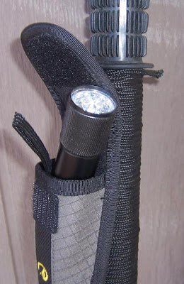Walking Stick Versatility Survival%2BStick_Accessory%2BPouch%2Bwith%2BFlashlight
