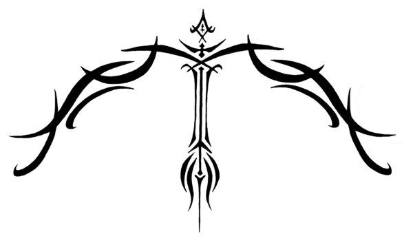 Métamorphose du présent en une rose éternelle Sagittarius_Tribal_Tattoo_by_Sybil