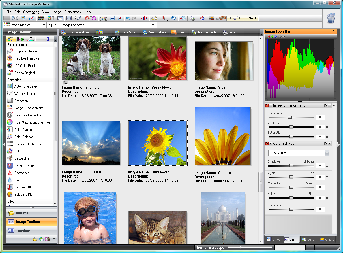 StudioLine Photo Basic 4.2.5 لتحرير صور StudioLine
