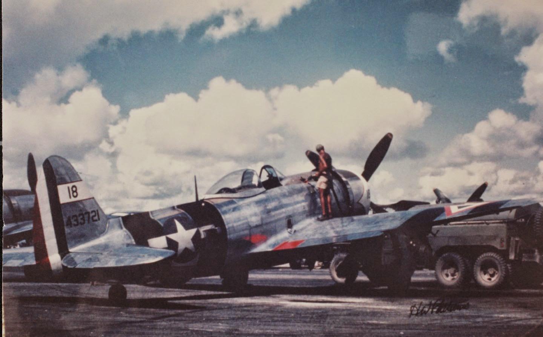 """P-47 D """"Centinela de la Patria"""" (Foto del Mes). P-47%2BColor%2BEscuadron%2B201"""
