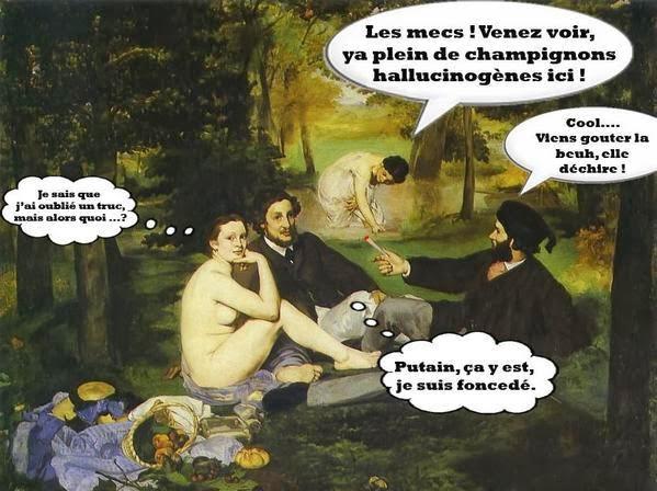 ce que voit le peintre et ce qu'il nous envoie Le-dejeuner-sur-l-herbe--Manet