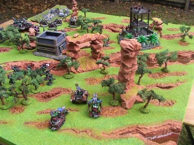 40K_Atelier décors en vue d'une nouvelle table Jungle DustansJungleTableTerrain