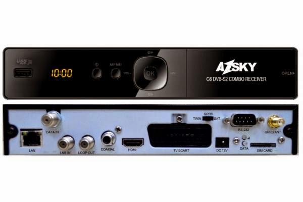 Vem ai Mais um  lançamento da  Marca Azsky. Conheça o novo Azsky G6  Iptv HD. Azsky_g6_hd_gprs_receiver