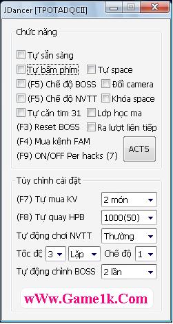 Size chuan cua Jdancer v2.6 6119 : 666 K ( gồm 2 bản tự update và stan ) Jdancer