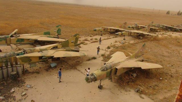القوات الجويه السوريه .....دورها في الحرب القائمه  SyAAF%2BMiG-23%2BBone%2BYard%2B%25283%2529
