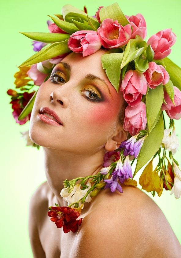 Rostros femeninos Belleza-femenina-rostros-de-mujeres-con-flores-girls-chicas-mujeres-lindas