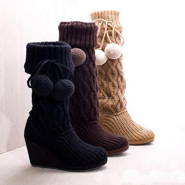 أفكار غريبة -## Smile-Campus-knitted-boots-25284-2529