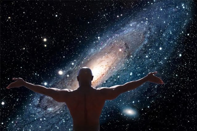 You Are The Universe: Transcending The Separate Self Man-universe-space