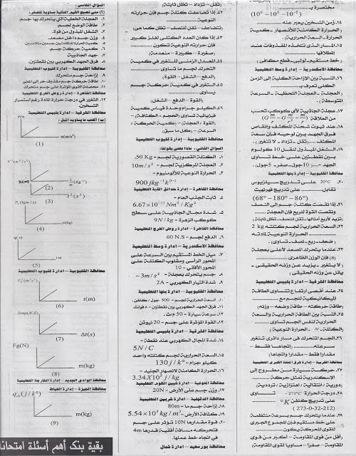 بنك اهم اسئلة الادارات والمدارس فى الفيزياء لاولى ثانوى بالاجابات تجميع ملحق جريدة الجمهورية ابريل 2013 Scan0001