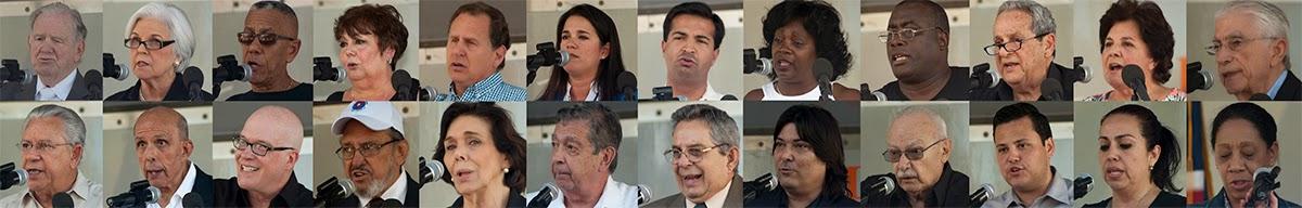Organizaciones de la Resistencia Cubana convocan a concentración pública en Miami por la democracia en Cuba PonentesManifestacion_20-12-2014