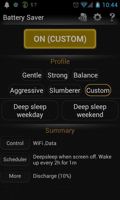 Aplikace  Deep Sleep Battery Saver (Ver 2.4) 11