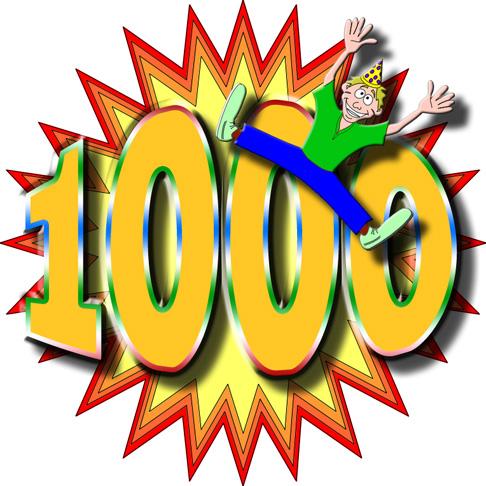 La suite de nombres [2 posts par jour/par personne] 1000