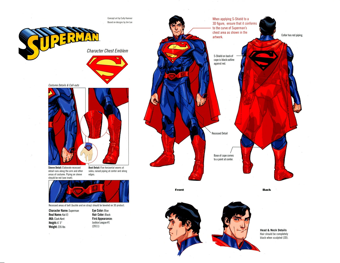 [Sideshow] Superman - Premium Format Figure - LANÇADO!!!! - Página 3 Superman-Style-Sheet-New-52-Cully-Hamner