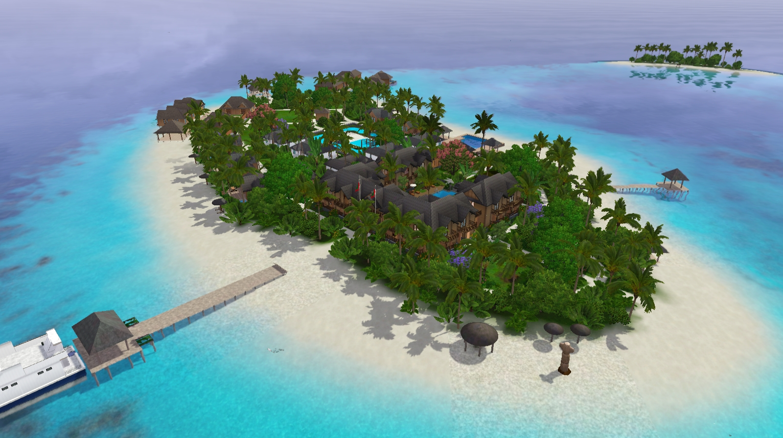 [Descarga] Mundo Suvadiva Resort, poblado. Screenshot-501